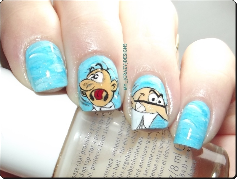 Mortadelo & Filemon nails nail art by Mycrazydesigns