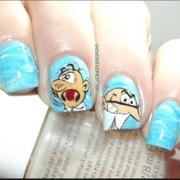 Mortadelo & Filemon nails nail art by Mycrazydesigns