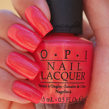 OPI Bright Lights Big Color Swatch by xNailsByMiri