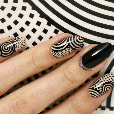 black&white nail art inspired by IKEA ;) nail art by Let's Nail Moscow