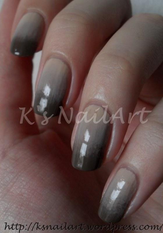 "Nude Gradient nail art by Kairi E ""K's NailArt"""
