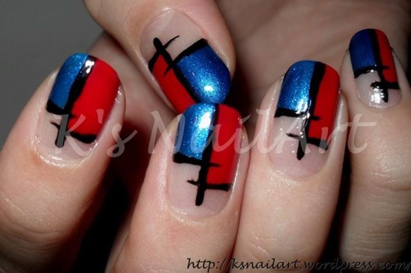 """Color Block Nails nail art by Kairi E """"K's NailArt"""""""