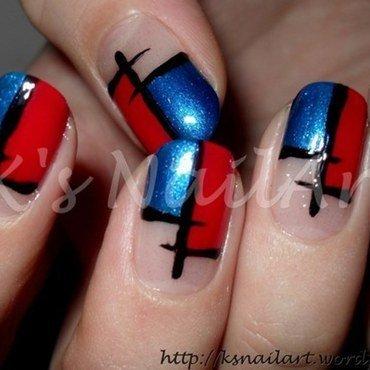 Colour block nails 3 thumb370f