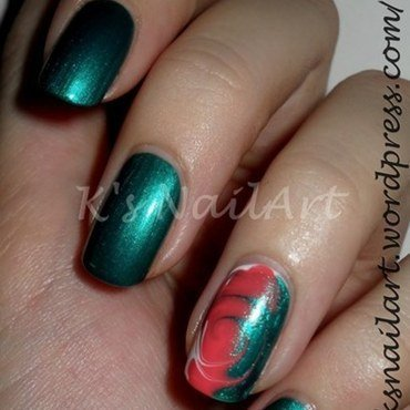 "Swirls nail art by Kairi E ""K's NailArt"""