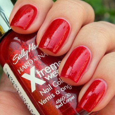 Sally Hansen Xtreme Wear 390 Red Carpet Swatch by Suzi - Beauty by Suzi