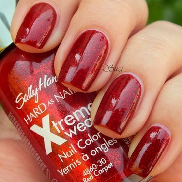 Sally Hansen Xtreme Wear 90 Brick Wall and Sally Hansen Xtreme Wear 390 Red Carpet Swatch by Suzi - Beauty by Suzi