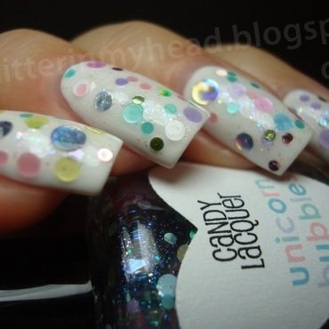 Bubbles nail art by The Wonderful Pinkness