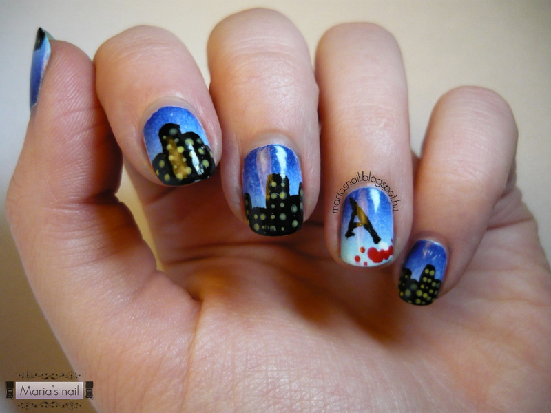 Castle Manicure  nail art by Maria