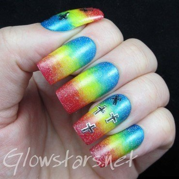 Featuring Born Pretty Store Cross Metal Nail Art Stickers nail art by Vic 'Glowstars' Pires