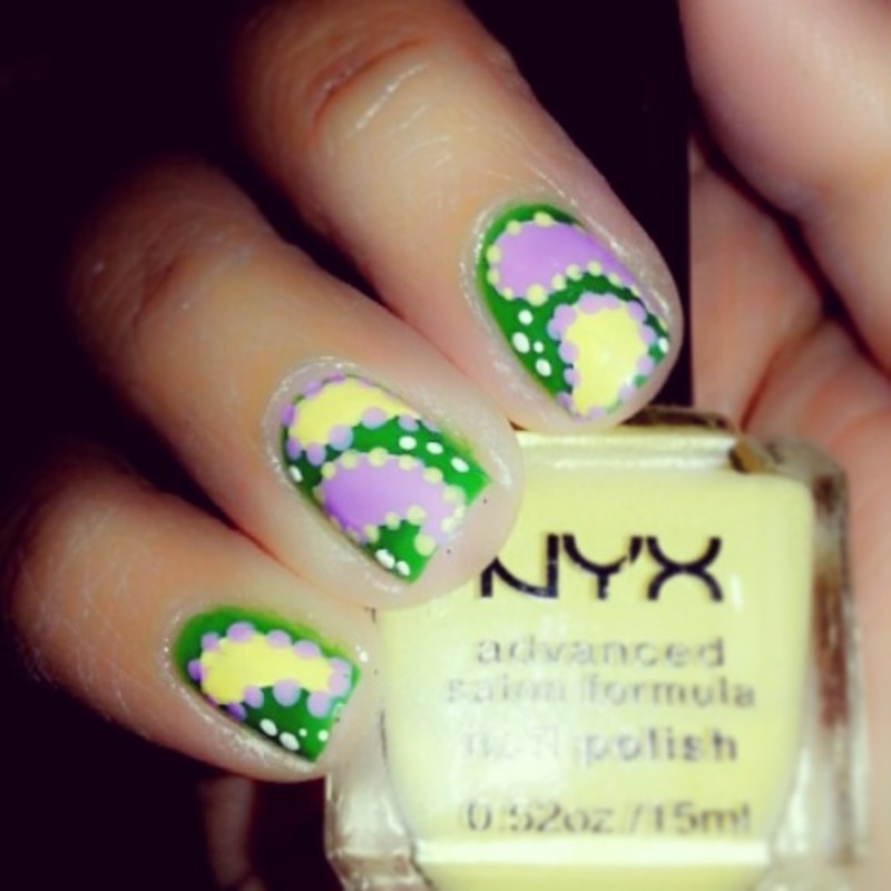 """""""A  Patchwork  Paisley"""" nail art by Evy Rodrigues"""