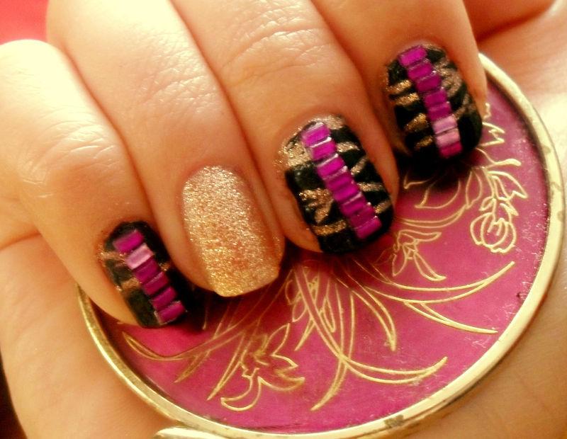 Glam nails nail art by Teo