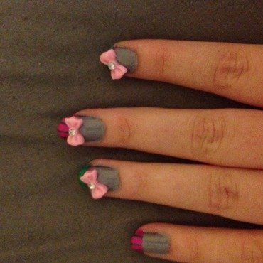 School girl shellac nail art by Nickysnails
