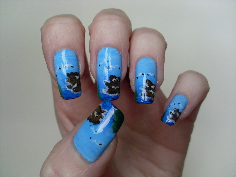 Seascape Nails nail art by Tracey - Bite no more - Nailpolis: Museum ...