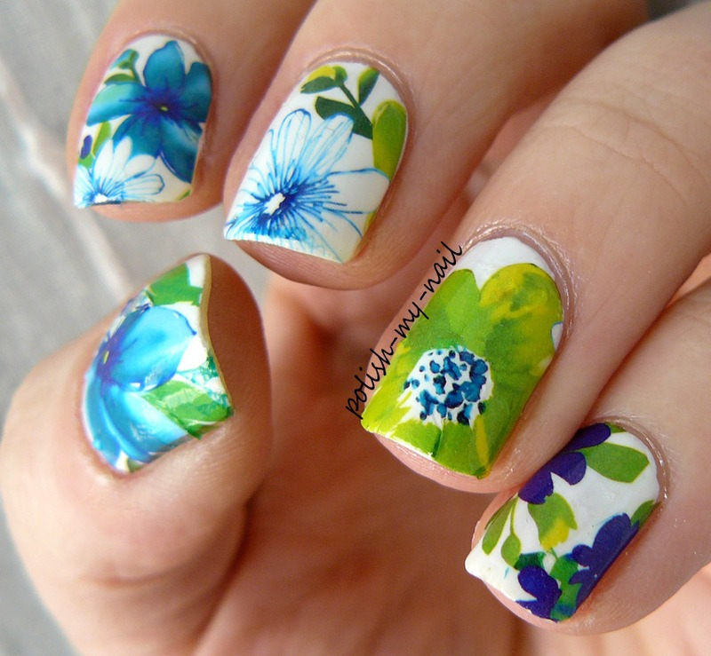 Floral Manicures For Spring And: Spring Flowers Nail Art By Ewlyn