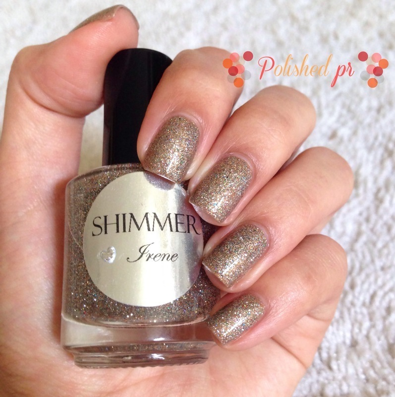 Swatch: 'Irene' from Shimmer Polish nail art by Jenn Thai
