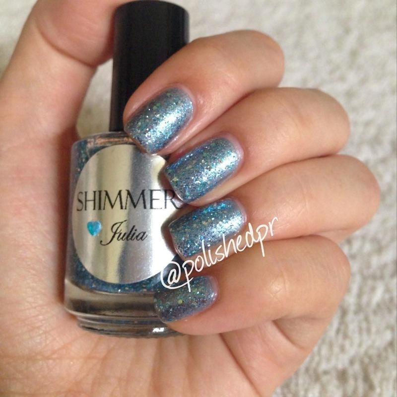 Shimmer Polish Julia Swatch by Jenn Thai