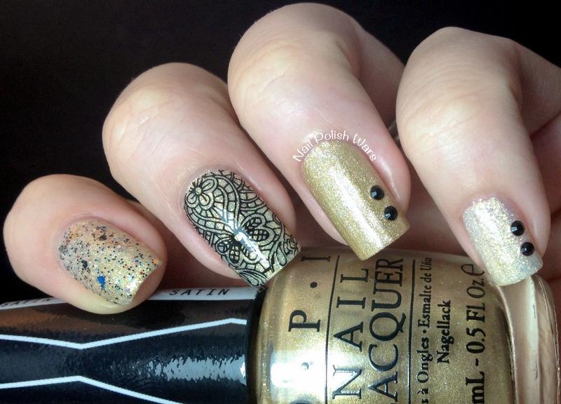 Goldie Looks nail art by Nail Polish Wars