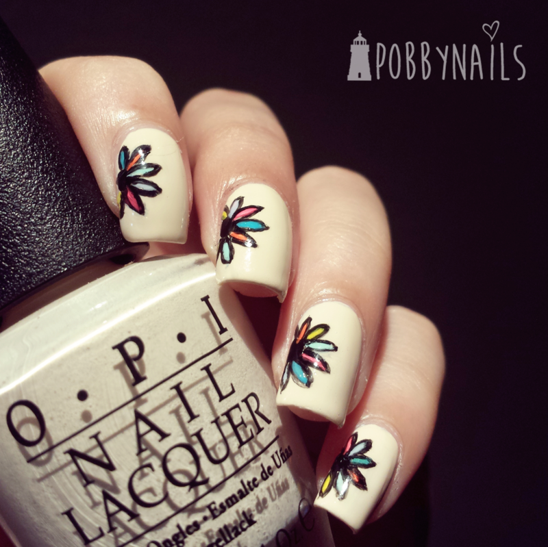 Colorful Buffed Vampire nail art by Priscilla  Lim