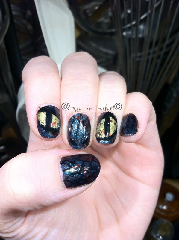 Snake in the polish aisle  nail art by Kayla