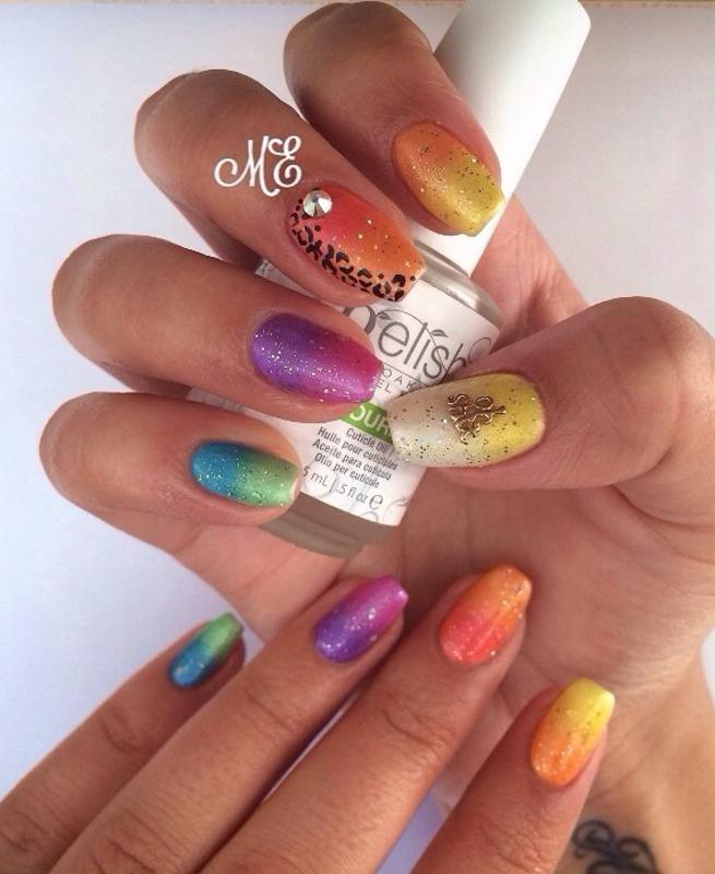 Rainbow Extravanganza! nail art by Miriam