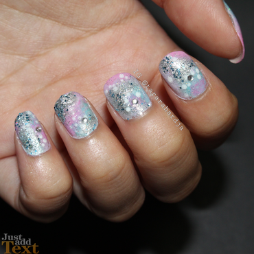Mermaid's Dream nail art by Tara Rahardja