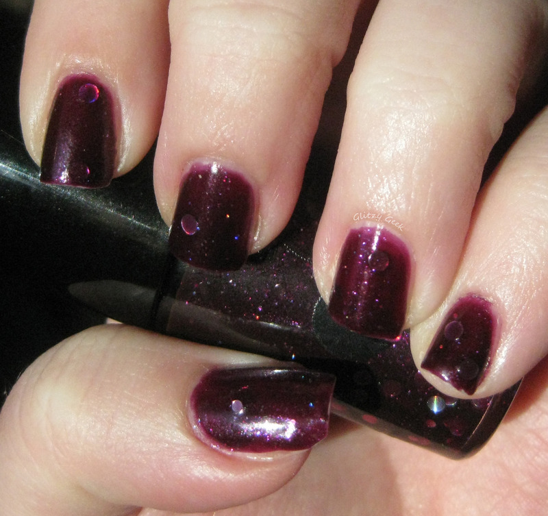 Jindie Nails Dead Roses Swatch by Andi