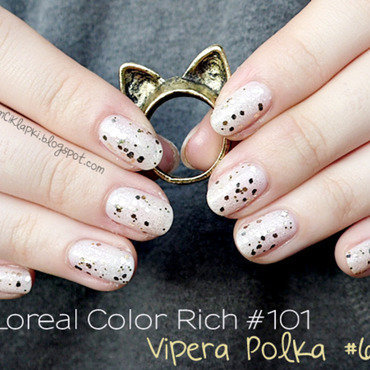 Loreal Paris Color Rich #101 and Vipera Polka #66 Swatch by SheLazy