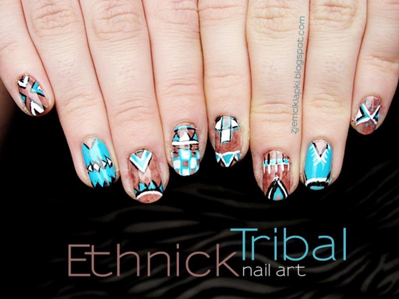 Ethnick tribal nail art by SheLazy
