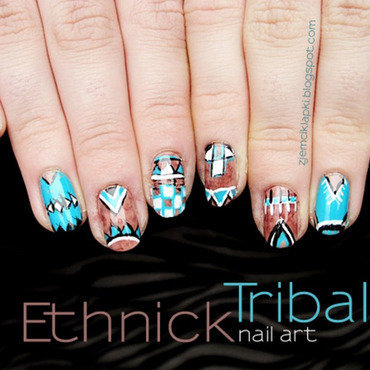 Ethnick tribal nail art by SheLazy