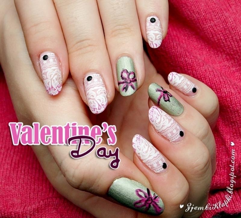 Cute lace nail art nail art by SheLazy