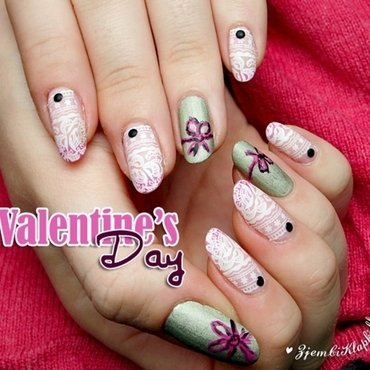 Cute lace nail art nail art by SheLazy