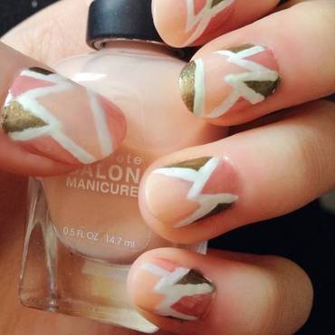 Geometric nail art by Anya Qiu