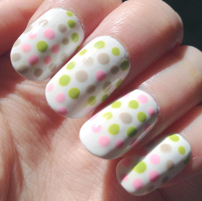 Lots of Dots nail art by Anya Qiu