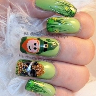 Luck O' The Irish nail art by  Kyleigh  'Handmade By Kyleigh'