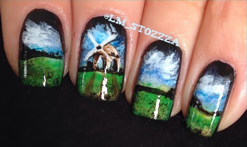 Windmill nail art by Louise