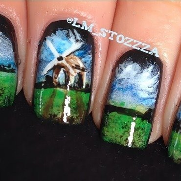 Windmill nail art by Louise