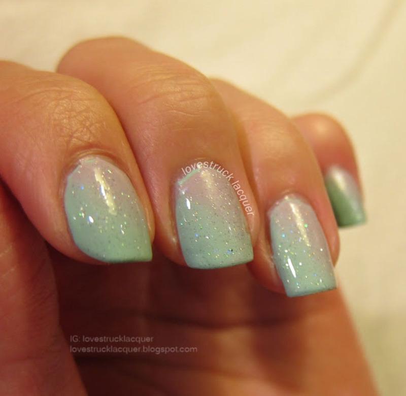 Diagonal Gradient nail art by Stephanie L