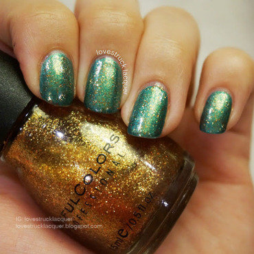 Sinful Colors All About You and Maybelline Be Scene in Green Swatch by Stephanie L