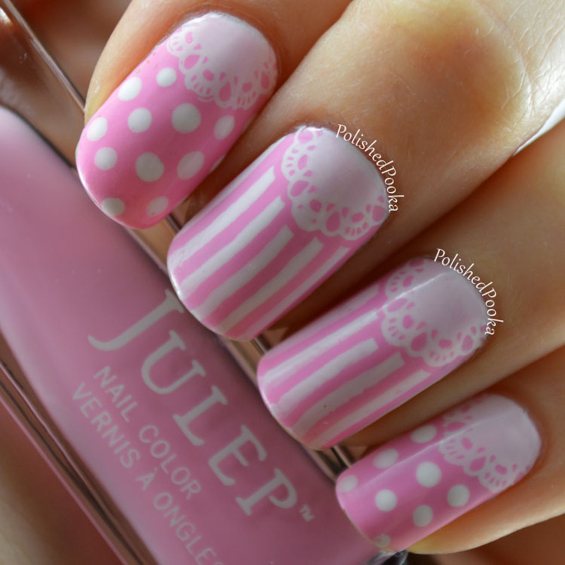 Delicate Doilies nail art by Kyema