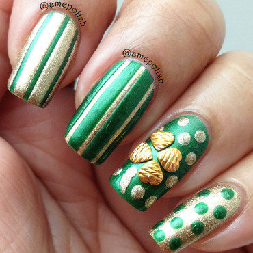 St. Patrick's Day Nails nail art by Amber Connor