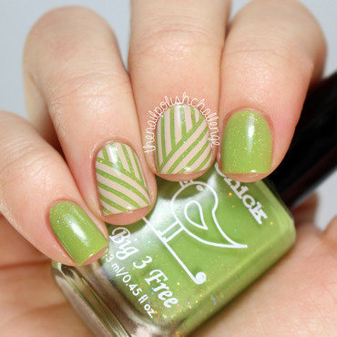 Spring Striping Tape Nail Art nail art by Kelli Dobrin