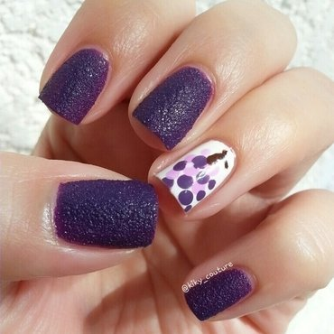 Grape Fruit Mani nail art by Ximena Echenique
