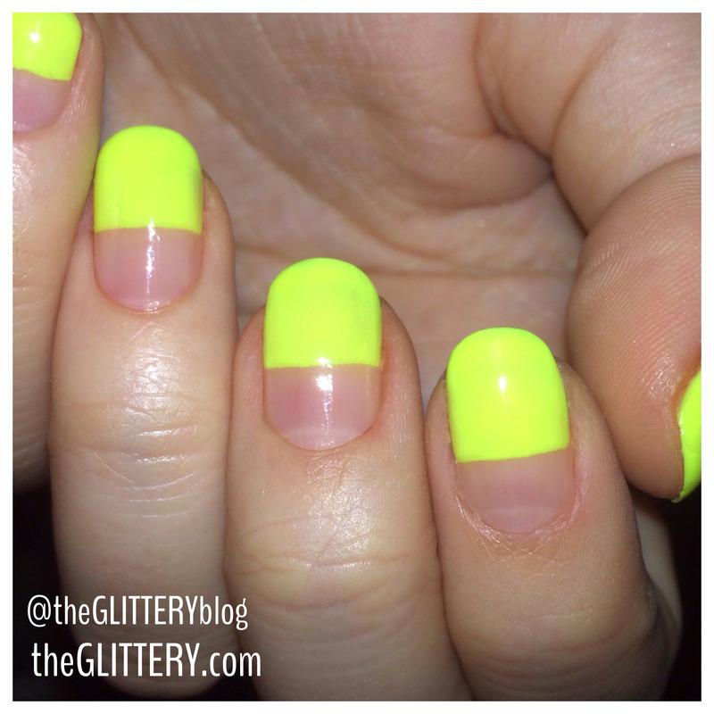 neon simplicity.  nail art by Ari  Fund