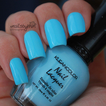 Kleancolor Pastel Teal Swatch by xNailsByMiri