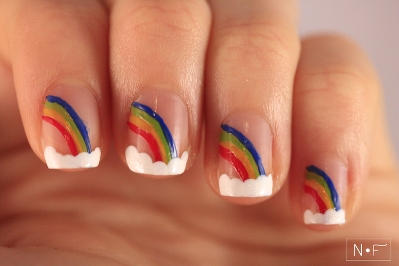 Over the rainbow nail art by NerdyFleurty