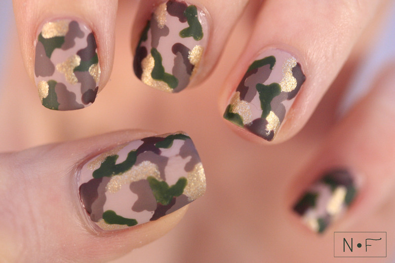 Camouflage nail art by NerdyFleurty - Camouflage Nail Art By NerdyFleurty - Nailpolis: Museum Of Nail Art