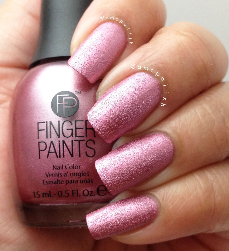 Finger Paints Pretty Tough Pink Swatch by Amber Connor