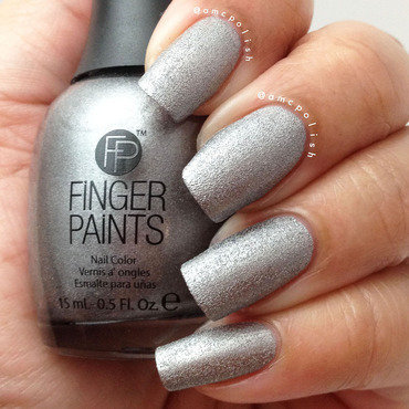 Finger Paints Rockin' Gunmetal Swatch by Amber Connor