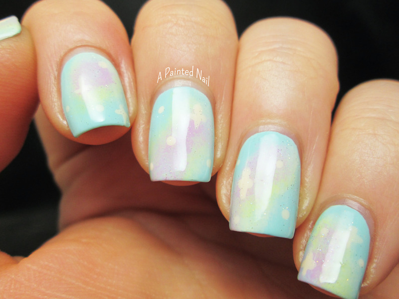 Pastel Galaxies nail art by Bridget Reynolds