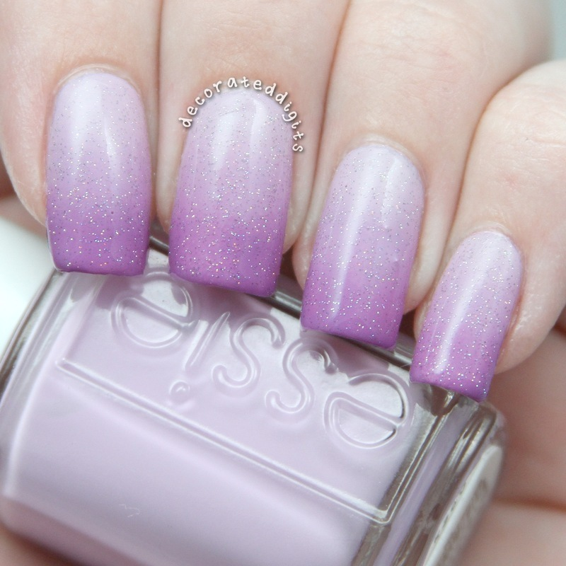 Light Purple Nails With Designs
